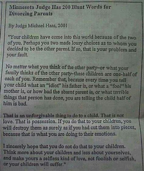 Divorce Letter From Kid Co Parenting Quotes Quotesgram