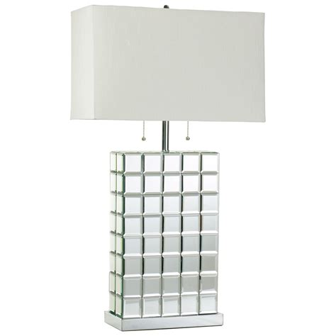 Discount Light Fixtures Cyan Design 04119 Mirrored Tile Contemporary Table Lamp Cn