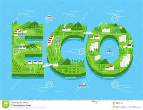 design green environment vector eco green city concept flat design environment and