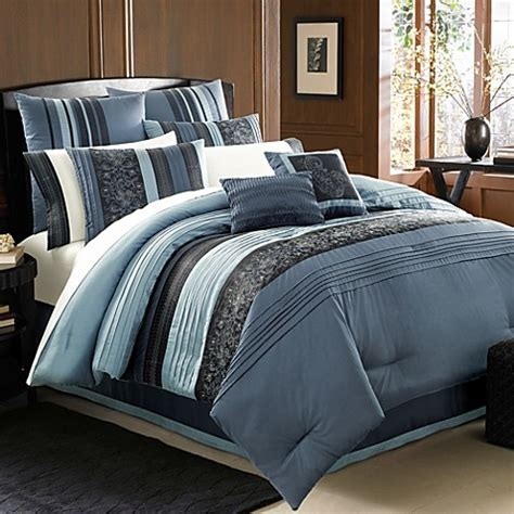 manor hill bedding manor hill 174 cleo sapphire 8 piece complete comforter set