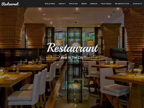 bootstrap templates for restaurant 27 free restaurant cafe html website templates templatemag