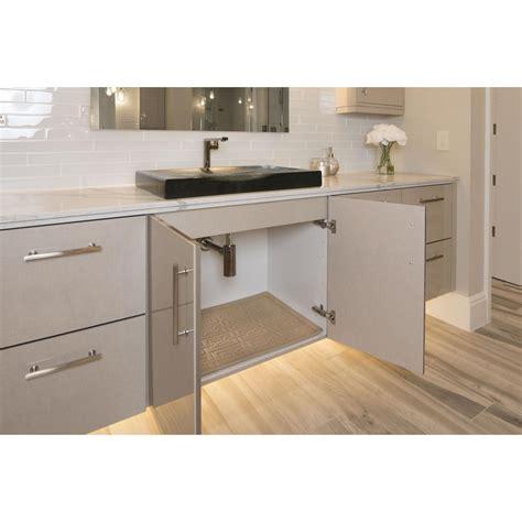 sink cabinet mat xtreme mats beige bathroom vanity depth sink cabinet