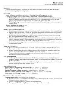 Sle Resume Objectives For Masters Degree Business Administration Resume Sles Sle 28 Images Associate Degree In Business