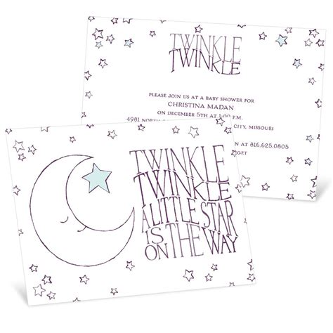 Baby Shower Invitations Twinkle Twinkle by Twinkle Twinkle Baby Shower Invitation Pear Tree