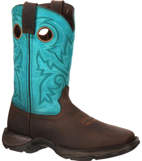 durango s brown turquoise rebel steel toe