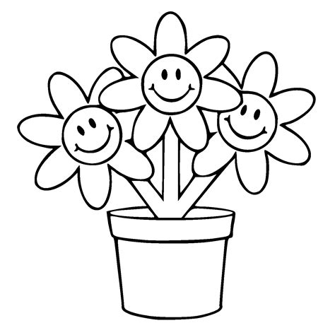 Flower Pot Colouring Pages Clipart Best Clipart Best Flower Pot Coloring Pages