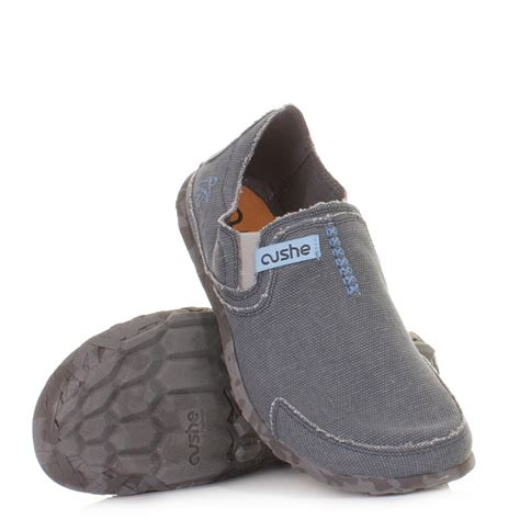 mens canvas slippers mens cushe navy comfy canvas casual slip on shoes slippers