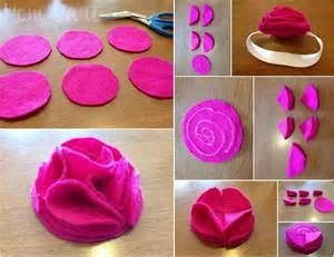how to make baby flower headbands mart diy felt flower baby headbands tutorial