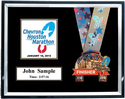 10 x 10 matted shadow box 2013 chevron houston marathon and aramco houston half