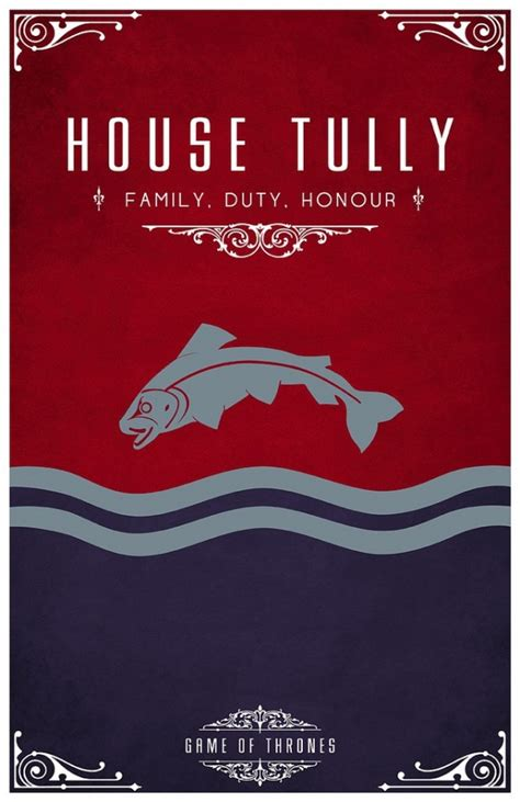 house tully game of thrones game of thrones minimalist poster house tully orangeinks