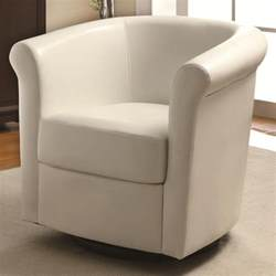 Swivel Chair Sofa Design Ideas Living Room Living Room Furniture Idea Of Single White Sofa Chair Designed With Cozy Arm And