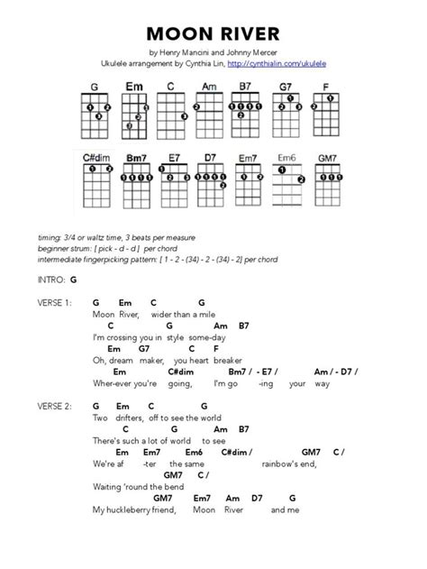 tutorial ukulele moon song the 25 best moon river lyrics ideas on pinterest moon