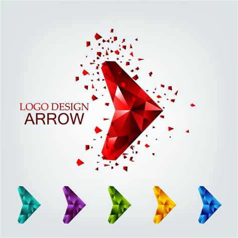 free logo design in ai file download 3d geometric arrow for logo design free vector in adobe