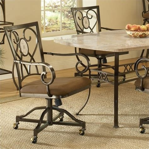 Caster Chairs Dining Set Hillsdale Brookside 5 Dining Set W Oval Caster Chairs 4815dtrnbcovc