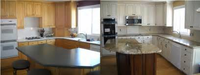 Refinished Kitchen Cabinets Before And After Pics Photos Cabinet Before And After