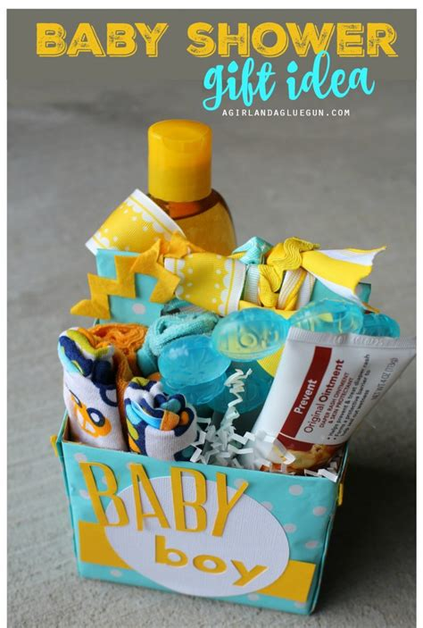 baby shower gift idea a and a glue gun