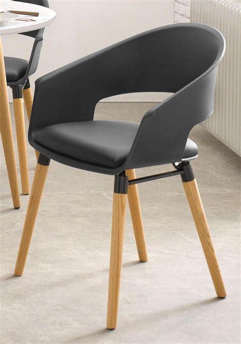 stoelen wit zwart eettafel stoelen zwart set van of met wielen in zwart of