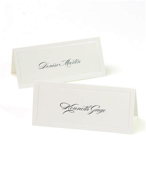 gartner place cards 83004 template ivory pearl placecards 48ct