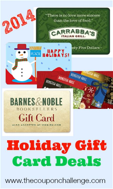 Deals On Gift Cards 2014 - holiday gift card deals 2012