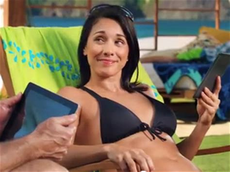 kindle commercial actress kindle s bikini girl is back and now she s married