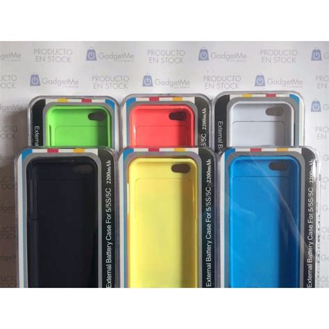 cargador funda iphone 5 cargador funda bater 237 a externa iphone 5 5c 5s 2200mah