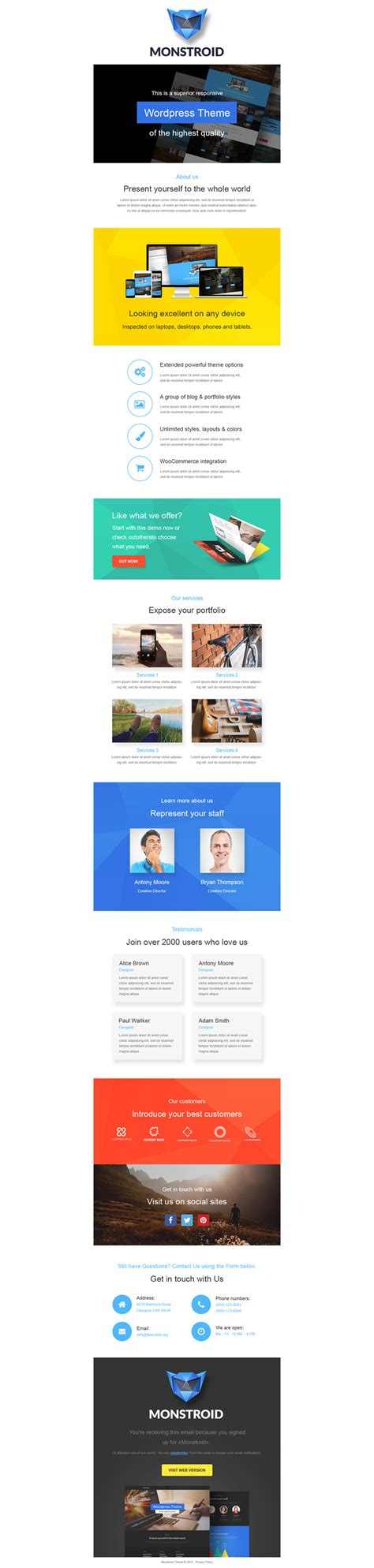 business responsive newsletter template 55166