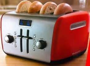 Morphy Richards Accents Red Toaster Kitchenaid Kmt422er 4 Slice Red Digital Stainless Steel