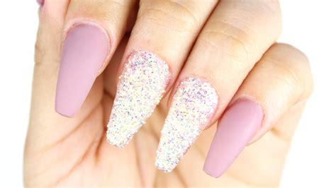 imagenes de uñas acrilicas con swarovski tutorial u 241 as efecto azucar youtube