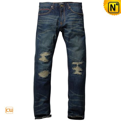 Denim Tapered ripped tapered denim for cw140230