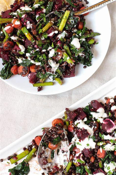 Lentil Detox Salad by Warm Lentil Detox Salad With Beets Asparagus Kale The