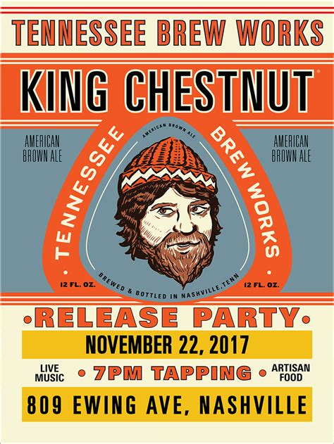 King Ale by Tennessee Brew Works Releases Quot King Chestnut Quot Brown Ale
