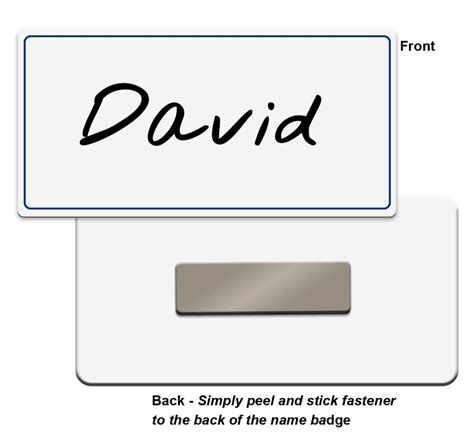 printable magnetic name tags blank plastic name badges with color border write on or