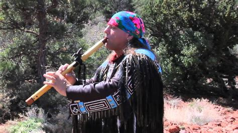 native american flute player wolfs robe  sedona az youtube