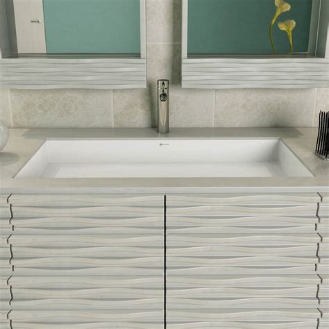 Solid Surface Undermount Sinks by Decolav Solid Surface Rectangular Undermount