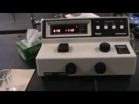 spectrophotometer lab report sle measuring color using the spec 20 spectrophotometer part