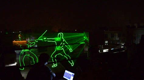 5watt green laser light outdoor animation laser show projector with quickshow software