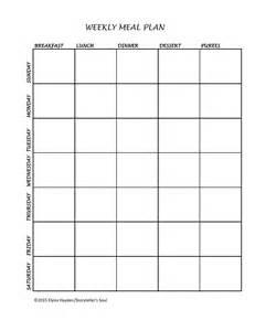 19 best images of meal planning printable worksheets