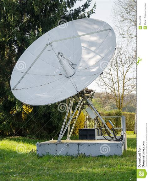 big satellite big white satellite dish royalty free stock images image 30493729
