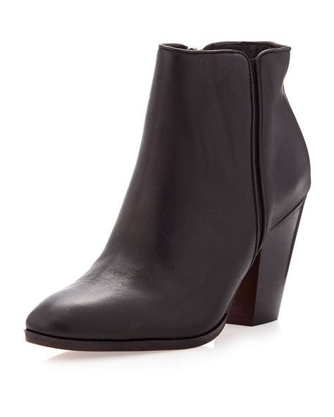 dolce vita hayla leather ankle boot black in black lyst