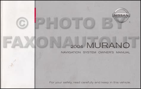 car service manuals pdf 2004 nissan murano navigation system 2004 nissan murano navigation system owners manual original