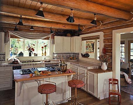 Track Lighting For Kitchen Island Cabin Kitchenscabin Kitchen Cabinets Kitchen Rustic With Cabin Exposed Beams Kitchen