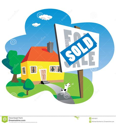 free house music sles sold house sign royalty free stock photography image 26319227