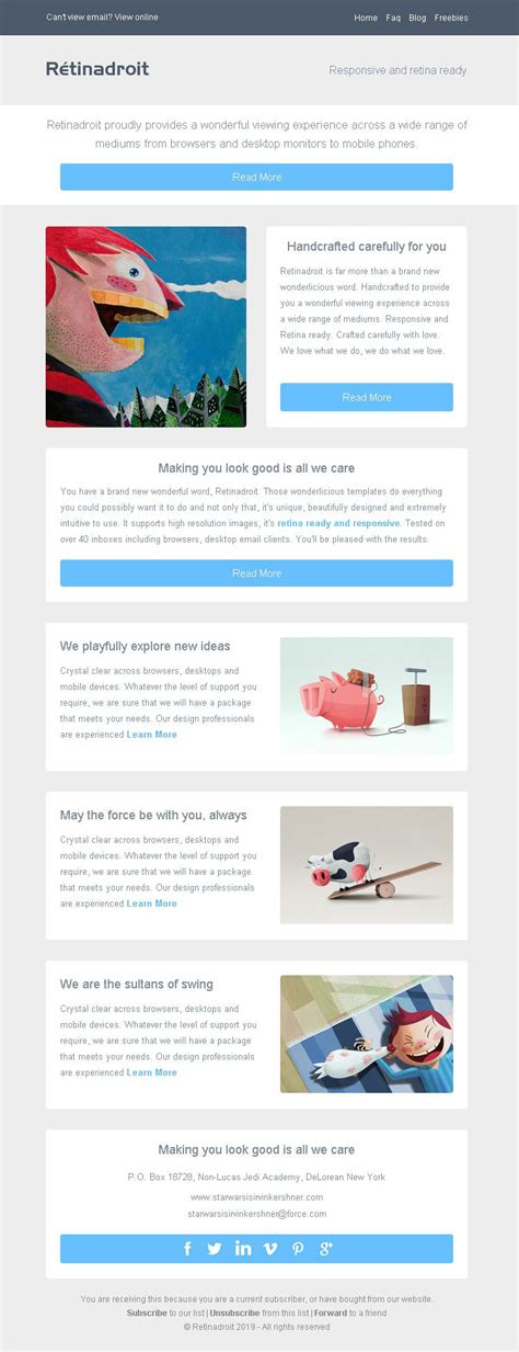 responsive email template invoice template mailchimp