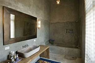 Wandfarbe spiegel badezimmer rustikal betonoptik wandgestaltung grau