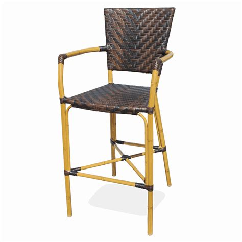 Outside Bar Stools Outdoor Aluminum Bamboo Rattan Bar Stool Bar