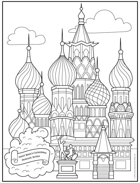 saint basils cathedral coloring page art projects  kids