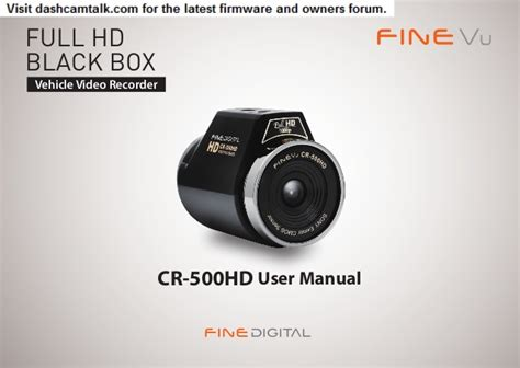 hd 8 manual user guide manual for hd 8 books finevu cr 500hd user manual