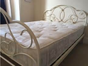 Bed Frames For Sale In Uk Arabella White Metal Bed Frame For Sale In The Uk