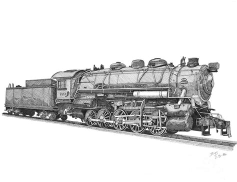0 Locomotive Drawings by Heavy Steam Switcher 0 10 0 Drawing By Calvert Koerber