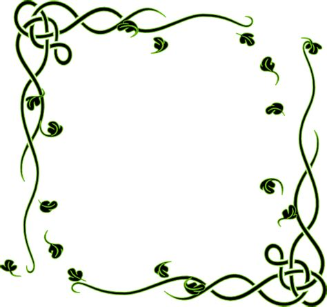 clipart frames leafy frame clip at clker vector clip